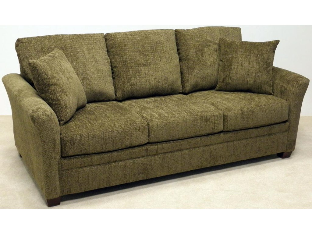 Emporia Air Mattress Sofa Sleeper With Semi Attached Pillow Back And Flared Arms By Lacrosse