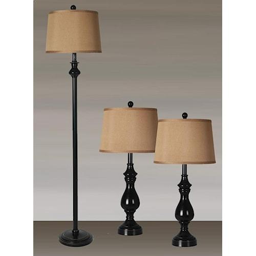 Lamps Per Se 2018 Collection LPS-622  3PC Lamp Set
