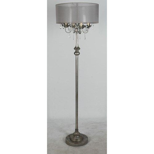 Lamps Per Se Lamps Polyresin Floor Lamp Antique Silver Finish