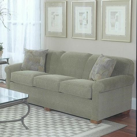Lancer 1130 Traditional Queen Sleeper Sofa with Tight Back and Block Feet