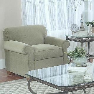 Lancer 1130 Traditional Chair with Tight Back and Block Feet