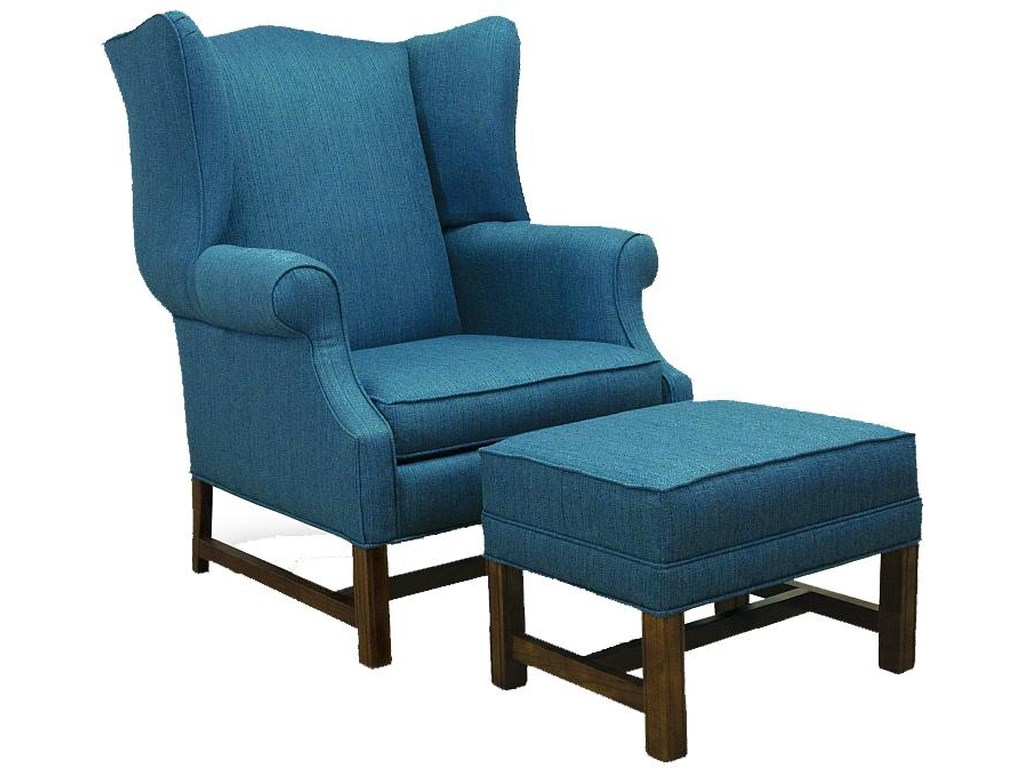 Lancer 1414High Back Chair and Ottoman