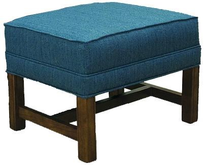Lancer 1414Ottoman with Oak Chippendale Base