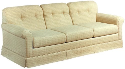 Lancer 2000 Queen Sofa Sleeper with Tufted Seat Back