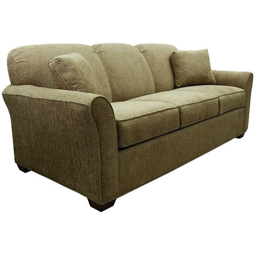 Lancer 2500 Queen Sofa Sleeper with Rounded Flared Arms