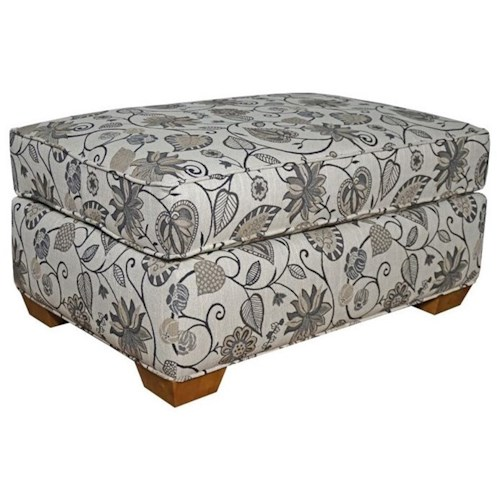 Lancer 26 Ottoman with Tapered Wood Feet