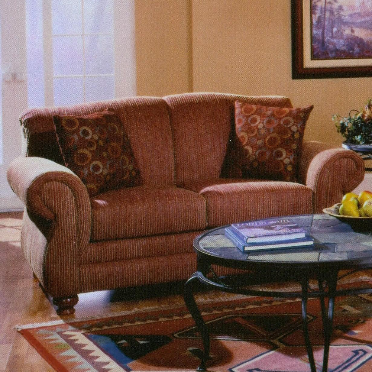 Genial Lancer 32 Traditional Loveseat With Rolled Arms