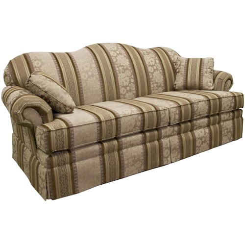 Lancer 3600 Traditional Camelback Sofa with Skirt