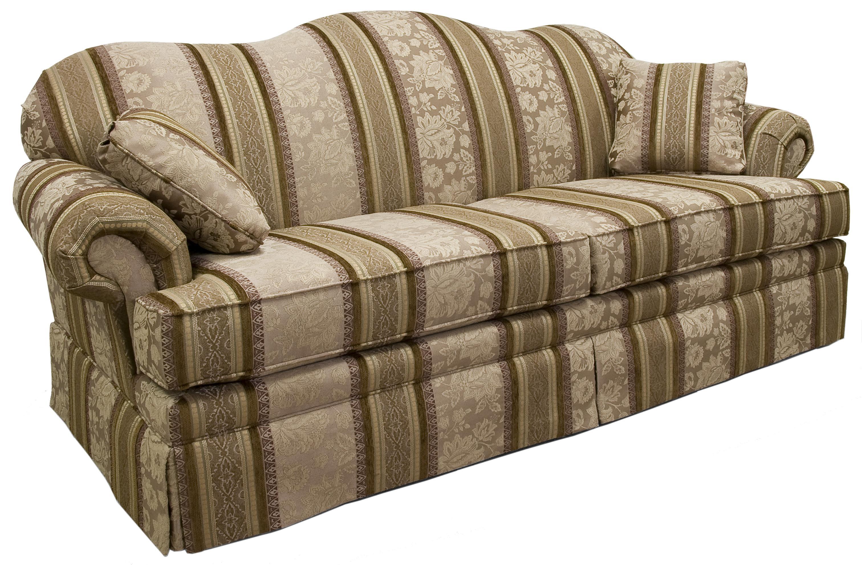 Lancer 3600 Traditional Camelback Sofa With Skirt
