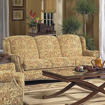Lancer 5100 Traditional Stationary Sofa with Tight Back and Turned Legs
