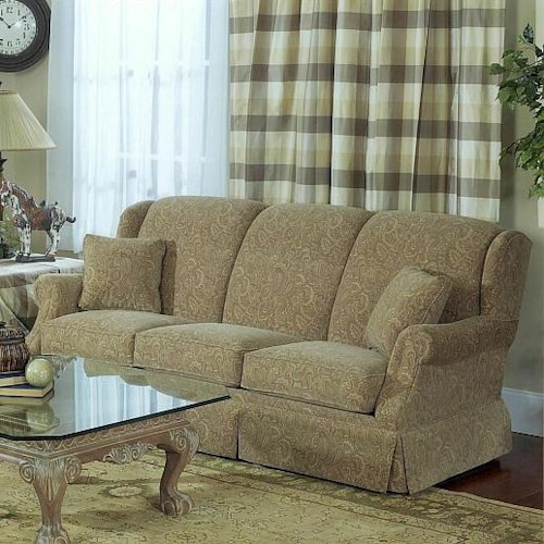 Lancer 5120 Traditional Stationary Sofa with Tight Back and Skirted Base