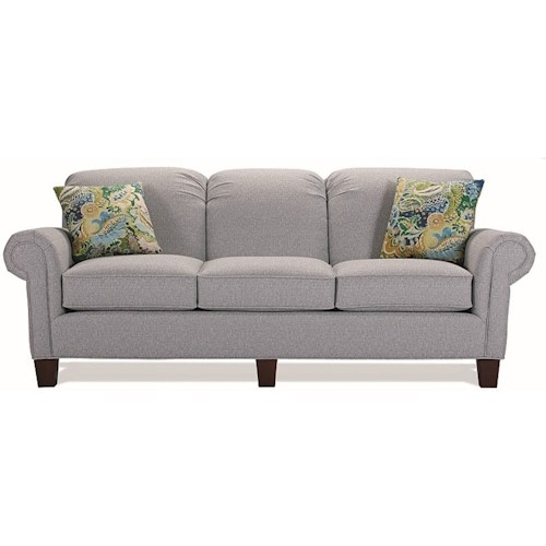 Lancer 5700 Contemporary Sofa with Rolled Arms