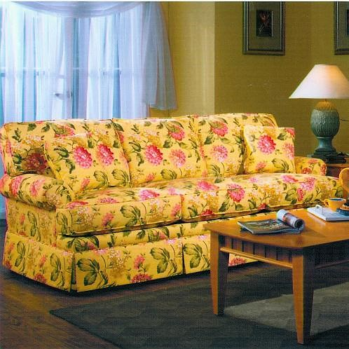 Lancer 6220 Full Length Sofa with Attached Back and Skirt