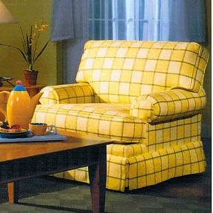 Lancer 6220 Upholstered Chair with Attached Back and Skirt