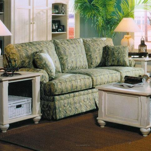 Lancer 6240 Stationary Sofa with Loose Backs and Skirted Base