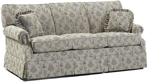 Lancer 650 Traditional Regular Length Sofa with Rolled Arms