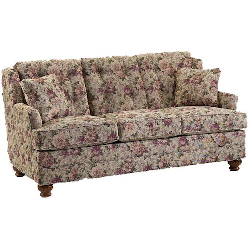 Lancer 670 Traditional Full Length Sofa with Bun Feet