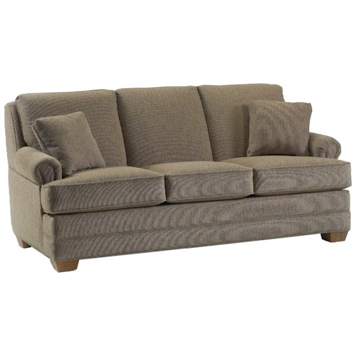 Lancer 696 Transitional Sofa with Lawson Rolled Arms