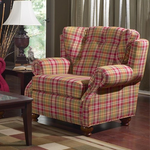 Lancer 83 Upholstered Chair with Rolled Arms