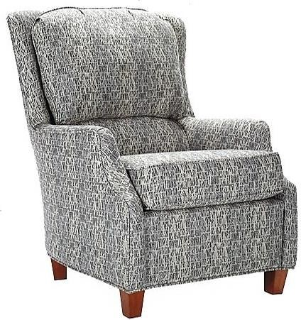 Lancer 901 Casual Accent Chair with Narrow Tapered Arms