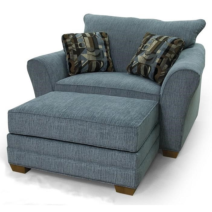 Contemporary Chair U0026 1/2 And Ottoman