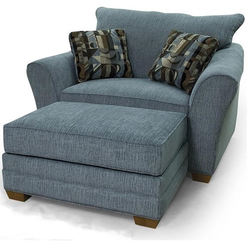 Lancer 90 Contemporary Chair & 1/2 and Ottoman