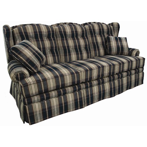 Lancer 9700 Wing Back Camel Back Sofa
