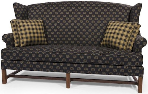 Lancer HomeSpun Wing Back Sofa with Rolled Arm