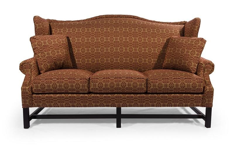 Lava Sofa lancer homespun high wing back sofa with rolled arms - wayside
