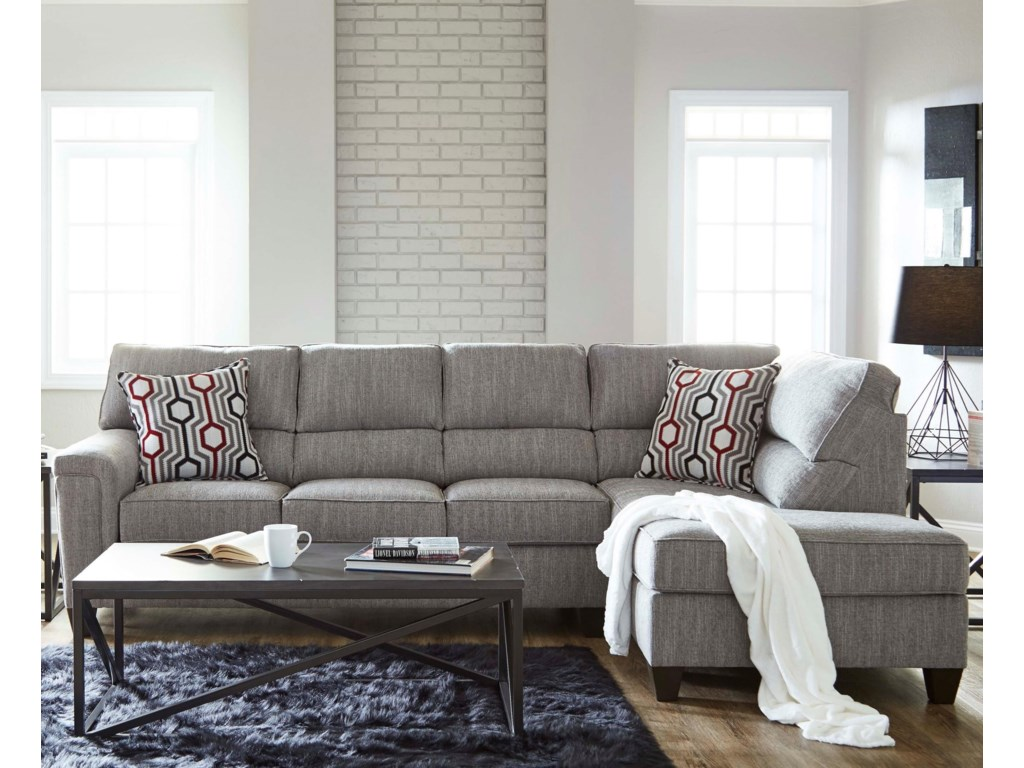 Lane 2015Sectional with Bump Chaise