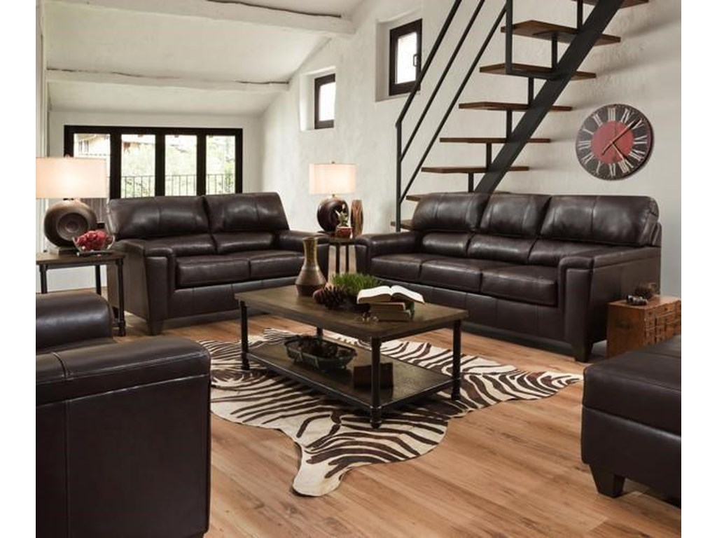 Lane 2038Leather Living Room Group