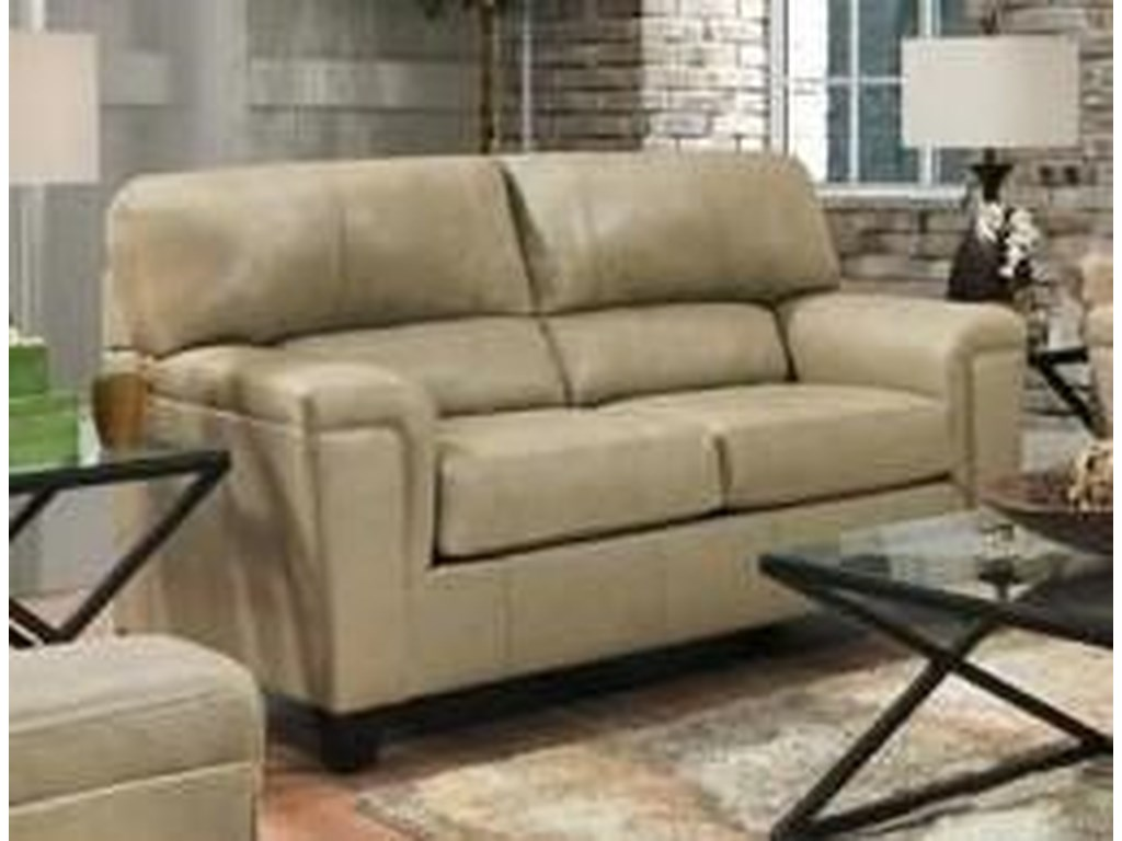 Lane 2038Leather Loveseat