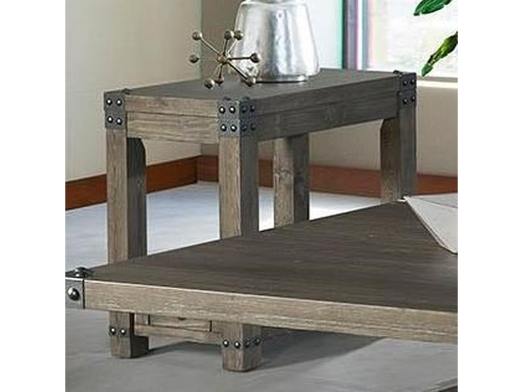 Lane 7593 Industrial Chairside Table with USB Ports | Rune's
