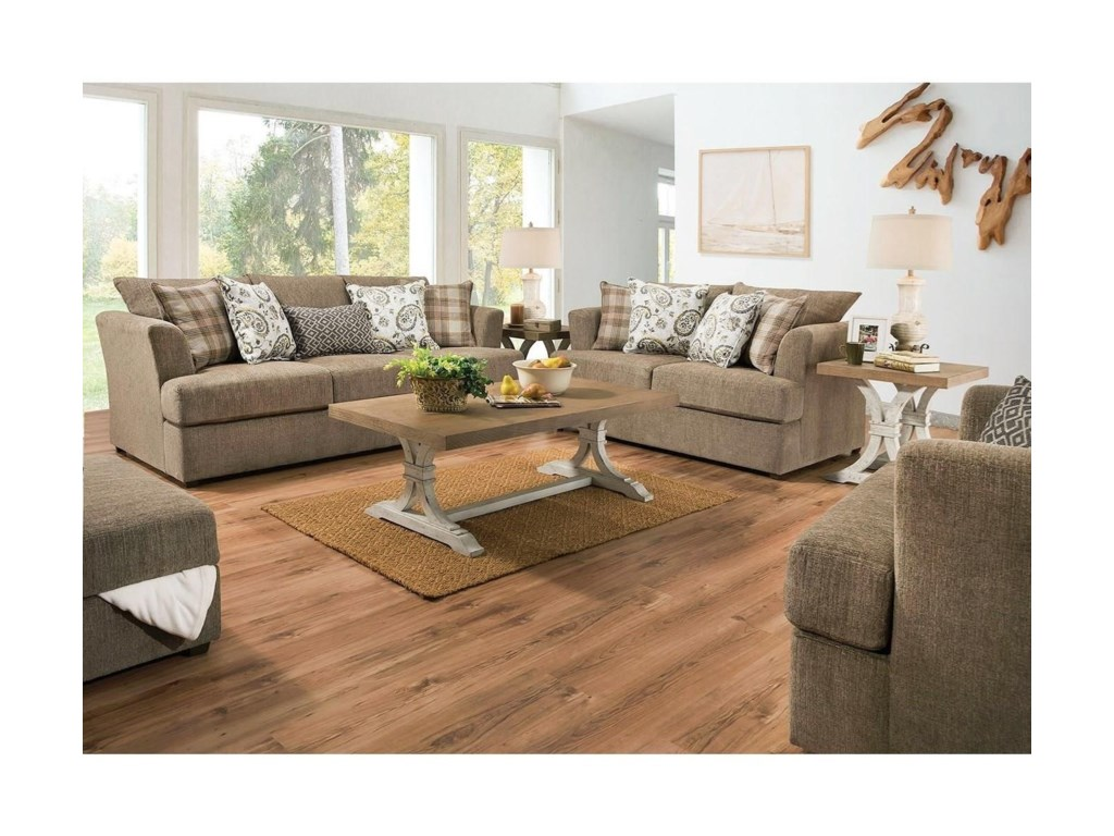 Lane 8009Stationary Loveseat