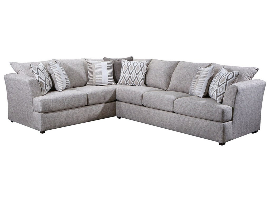 8009 Contemporary L-Shape Sectional with Tall Flared Arms by Lane at  Household Furniture