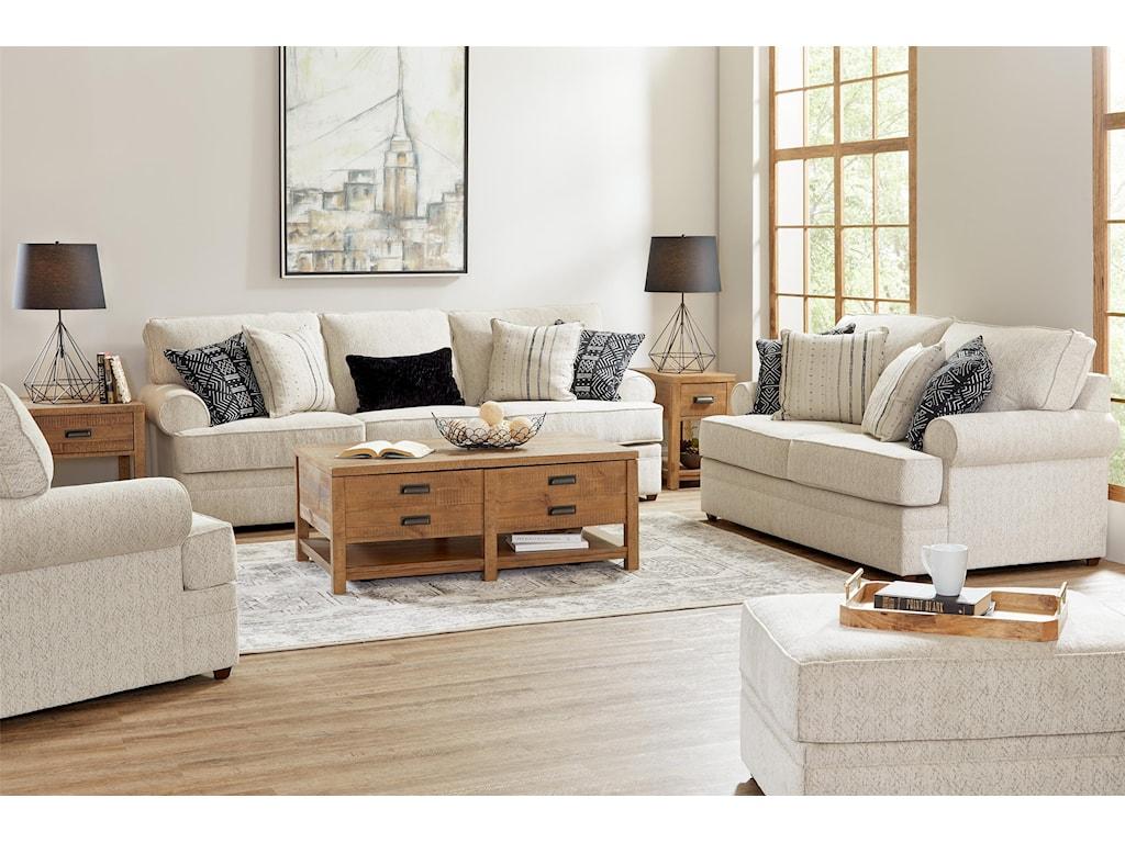 Lane 8041Sofa, Loveseat, Chair and Ottoman Set
