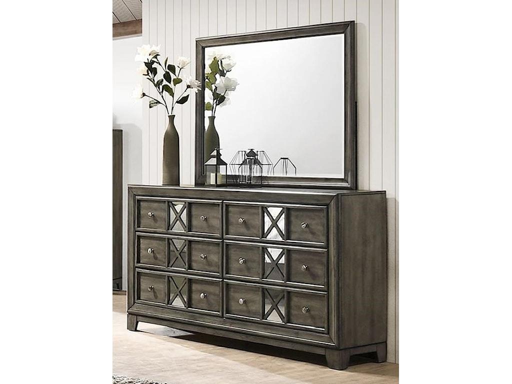 Lane Addison 6-Drawer Dresser with Mirror