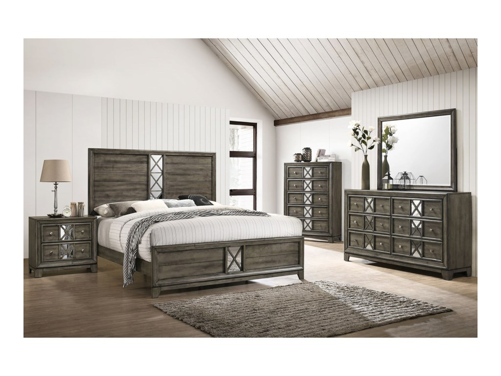Lane Addison Queen Low Profile Bed