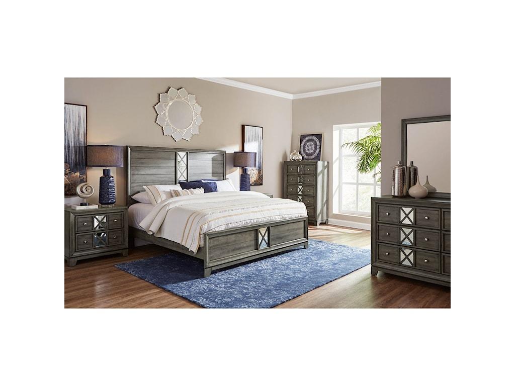Lane Addison King Low Profile Bed
