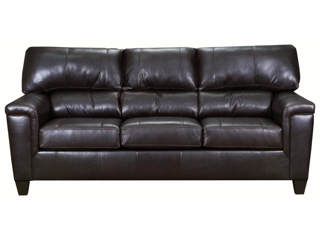 Lane Home Furnishings Birch CreekBrown Bark Leather Sofa