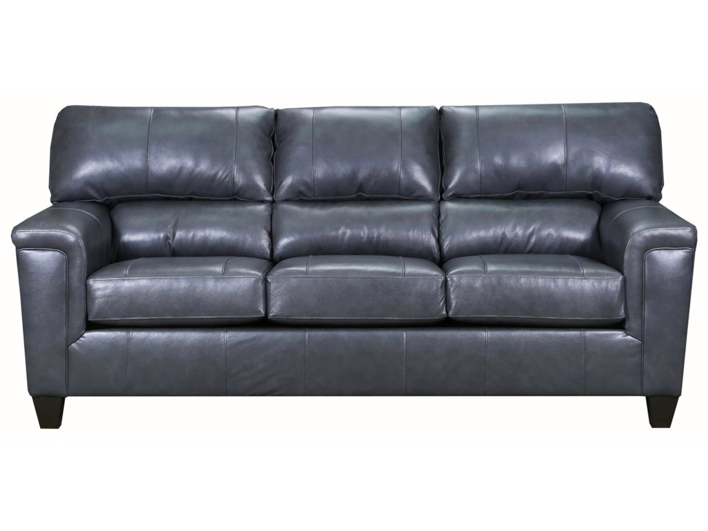 Birch Creek Gray Fog Leather Sofa by Lane Home Furnishings at Royal  Furniture