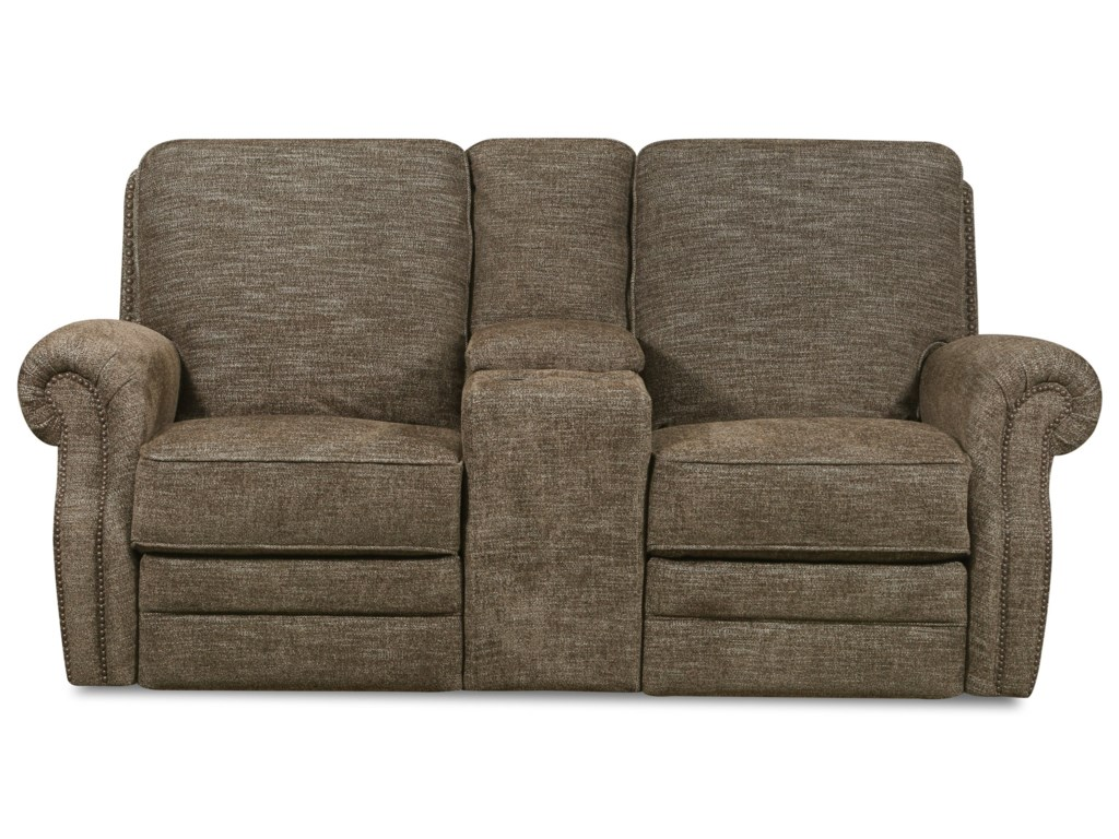 Lane CanterburyReclining Console Loveseat