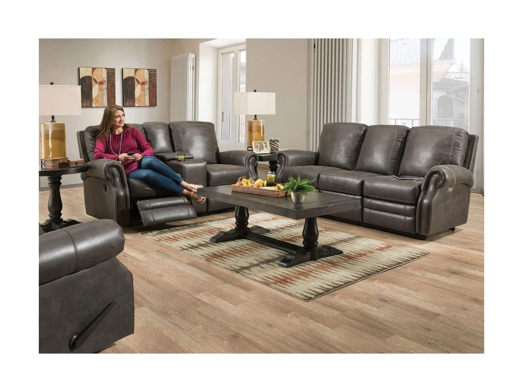 Lane CanterburyPower Reclining Living Room Group