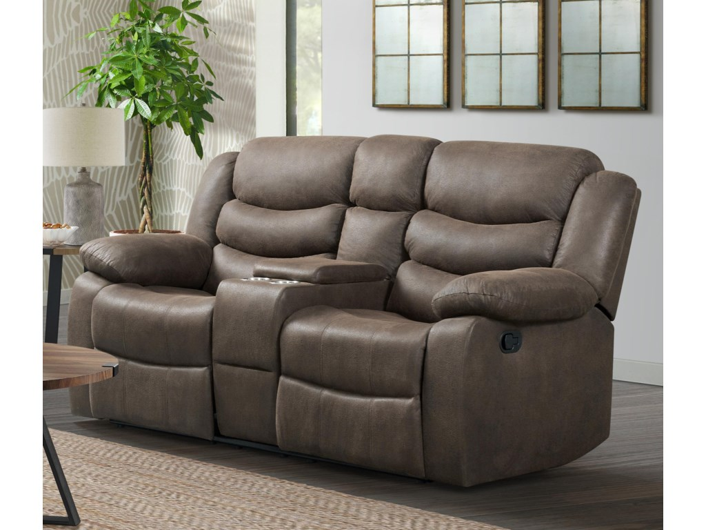 Lane ExpeditionReclining Loveseat with Console