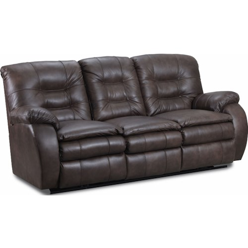 Lane Fresno Double Reclining Sofa With Cushioned Arms