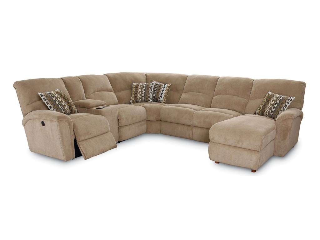 Lane Grand Torino4 Pc Power Sectional w/ LAF Console Loveseat