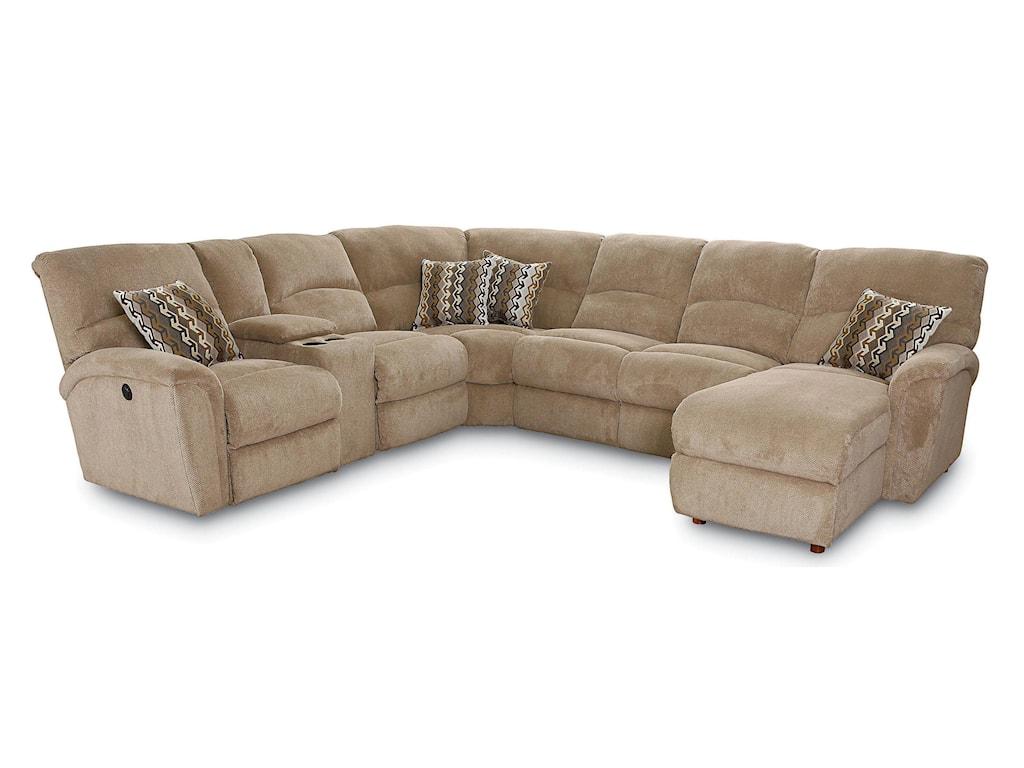 Lane Grand Torino4 Pc Sectional Sofa w/ LAF Console Loveseat