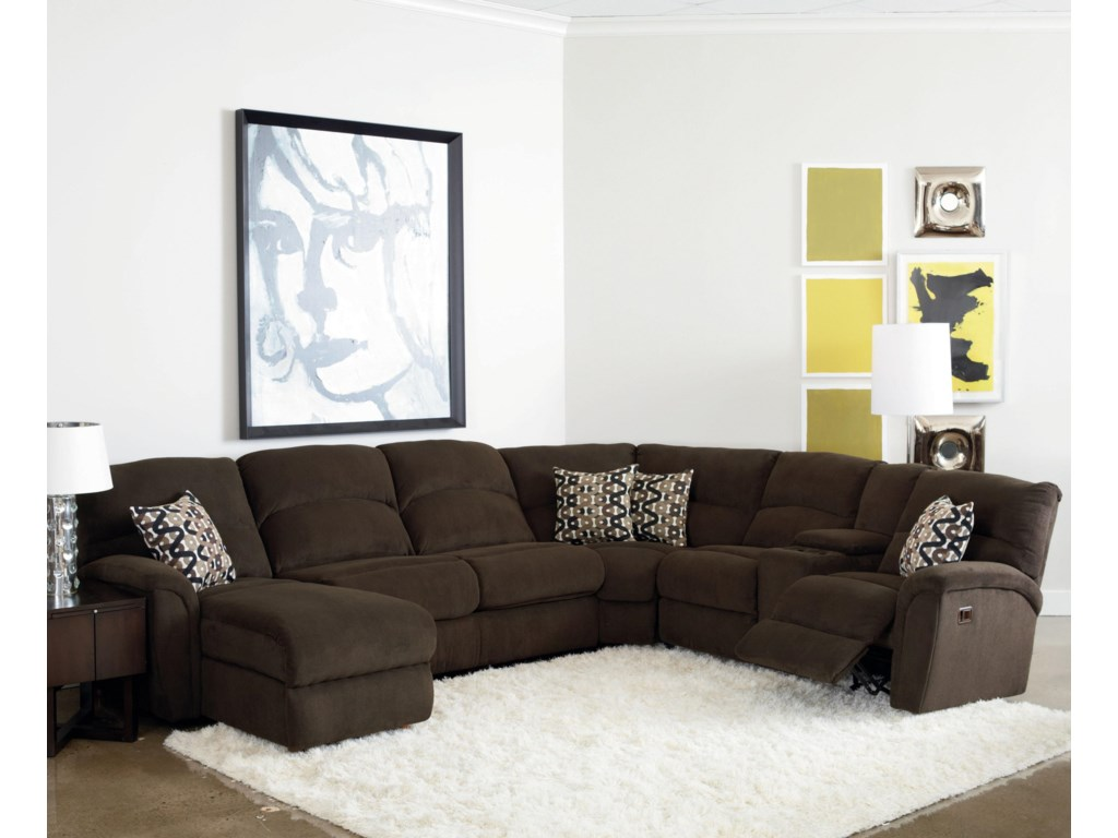 Lane Grand Torino4 Pc Sectional W Sleeper And Console