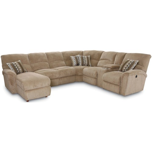 Lane Grand Torino Casual Four Piece Sectional Sofa W Laf Console Loveseat