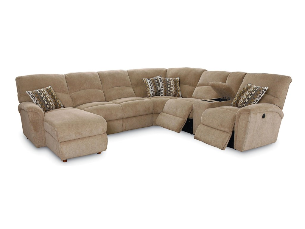 Lane Grand Torino4 Pc Sectional Sofa w/ LAF Console Loveseat